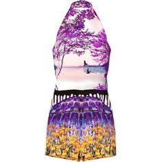 Dieser Jumpsuit Kite Terraflora Aus Seide In Multi von Mary Katrantzou ist ein echter Hingucker!
