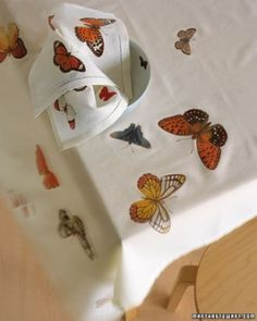 """See the """"Table Linens"""" in our DIY Bird and Butterfly Decorations  gallery"""