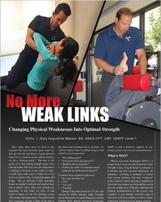 "My Article, ""No More Weak Links: Changing Physical Weaknesses Into Optimal Strength"" published in the May-June Issue of Oklahoma Sports and Fitness Magazine."