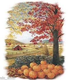 TSHIRT    Autumn Pumpkin Patch Tshirt  180e by AlwaysInStitchesCo, $13.50