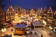 Weihnachtsmarkt in Rinteln, Niedersachsen, Northern Germany.