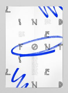 Lined font