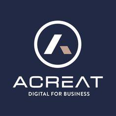 Acreat change d'identité visuelle | Acreat Web Technologies Change, Digital, Logos, Business, Corporate Design, Logo, Store, Business Illustration