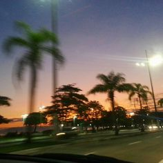 Santos - São Paulo - SP - Por do Sol. Foto de Fabiana Pardini.