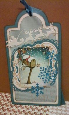 Kerstlabel gemaakt met dutch shape art tag 470.713.125 gemaakt door Nicole Rijksen