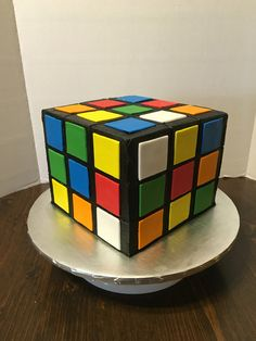 Rubix cube 14th birthday cake kids, teen, adult