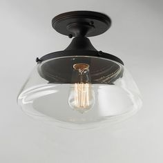 Modern Diner Flushmount Ceiling Light Available in 2 Colors: Bronze, Polished…