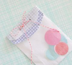 Twine and paper combo for treat bags