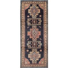 ecarpetgallery Hand-Knotted Hand-Knotted Ardabil Blue  Wool Rug (4'4 x 10'10) | Overstock.com Shopping - The Best Deals on One Of A Kind Rugs