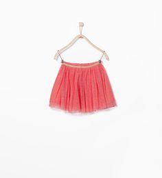 Image 1 of ELASTIC TULLE SKIRT from Zara