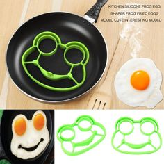 Kitchen Silicone Frog Egg Shaper Frog Fried Eggs Mould Cute Interesting Mould Js