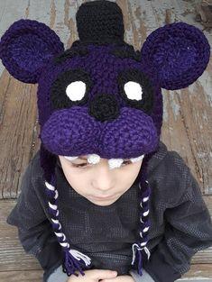 Schatten Freddy Hut | Etsy Springtrap Costume, Fnaf Cosplay, Freddy 3, Freddy Fazbear, Five Nights At Freddy's, Shadows, Twins, Crochet Necklace, Pokemon