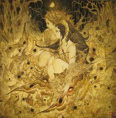 この森に君と共に by Masaaki Sasamoto ~~~ What an incredible inner light he brings out!