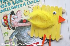 Popsicle Stick Baby Chick - Kid Craft