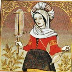 It's About Time: Illuminated Manuscripts - Women Spinning, Carding, Combing, & Weaving