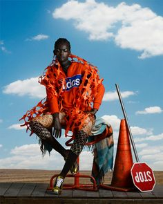 Surrealist editorial 'African Odyssey' combines the camera work of Kevin Mackintosh and set design of Daryl McGregor.