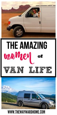 These three women don't let naysayers stop them from living in a van full-time. From a cargo van, to a Ford Transit Connect, to a Jeep Cherokee, these women are living the van life with freedom and adventure. #vanlife #fordtransit #jeepcherokee #vanconversion | van conversion DIY via @thewaywardhome