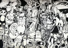 Skript03 - Brainstorm - Ink Illustration - --visit skript03.com 4 more--  tags 2 find me: art, illustration, graphic design, urban, drawing, artistic, artist, image, blog, gallery, collection, skript03, pen, #ink