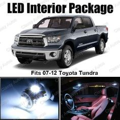 Toyota Tundra White Interior LED Future Trucks, New Trucks, Toyota Tundra Platinum, Toyota Tundra Trd Pro, Toyota Cars, Truck Accessories, Hot Mess, Car Stuff, Broncos