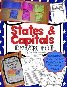 This 39 page download is a complete kit with black line masters and step by step photo directions for making a U.S. state and capital envelope book with your students. The printables were designed to fit inside a 10 x 13 inch envelope, but they will also fit in a standard size notebook if you prefer.