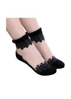 Gothic Ruffle Ankle Socks