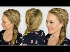 Waterfall and Fishtail French Braids - YouTube