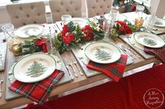 I hope y'all enjoyed yesterday's post to kick off Christmas Tablescape W. christmas tablescapes , I hope y'all enjoyed yesterday's post to kick off Christmas Tablescape W. I hope y'all enjoyed yesterday's post to kick off Christma. Christmas Dinner Set, Christmas China, Spode Christmas Tree, Christmas Dishes, Merry Christmas To All, Christmas Tablescapes, Plaid Christmas, Holiday Tables, Christmas Design