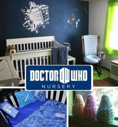 If I ever have a boy this shall be the nursery theme...love the crocheted Daleks but my sister makes the best!