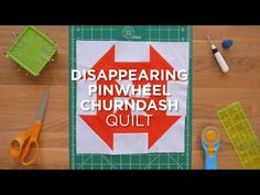 Quilt Snips Mini Tutorial: Disappearing Pinwheel Churndash - YouTube