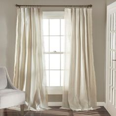 Lush Decor Rosalie Window Curtains Farmhouse, Rustic Style Panel Set for Living, Dining Room, Bedroom (Pair), x Ivory Curtains And Draperies, Curtains Living, Lined Curtains, Hanging Curtains, Window Curtains, Bedroom Curtains, Muslin Curtains, Curtains Behind Bed, Blackout Curtains