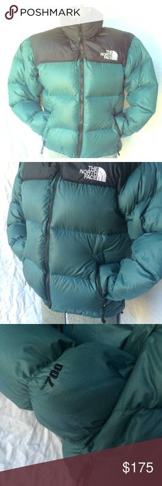 Vintage North FACE puffer down coat 700 nuptse L Good overall vintage condition. Faint stains on front which shows in some of photos. No major damage. All zippers work. Amazing vintage coat and hard to find this color combo in this condition ! Tag is missing but fits like womens MEDIUM/ large. Or men's small. north face Jackets & Coats Puffers