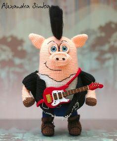 -, , , , - ! ! :) :) . #weamiguru #amiguru #amigurumi #3pigs #pig #music #punk #punkrock #crochet #knit #knitted #knitting #knittedtoy #DIY #2018 # # # # # #3 # # # # #