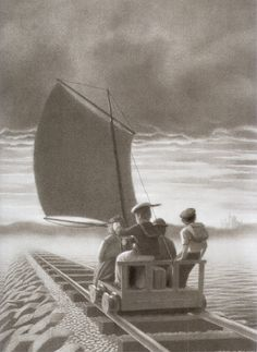 Chris Van Allsburg-The Mysteries of Harris Burdick.  We <3 this mystery! Max's fave, and a great story starter in the classroom