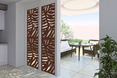 DESIGN GALLERY - Modinex Panels Outdoor Wall Panels, Fence Panels, Outdoor Walls, Outdoor Living, Home Interior Design, Interior And Exterior, Interior Doors, Decorative Screen Panels, Metal Wall Panel