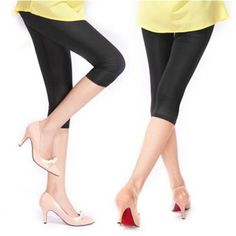 de8c83251a7db New Soft Solid Candy Color Women Summer Leggings High Stretched High  Quality Fitness Clothing Cropped Trousers