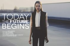"""Marta Kaczmarek: """"Today the future begins"""" http://www.confashionmag.pl/webitorial/today-the-future-begins.html"""