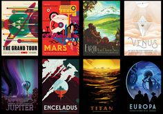 Want to get away— like, really away? Now you can dream of cosmic vacations, thanks to NASA's vintage-inspired travel posters, available to download for free.