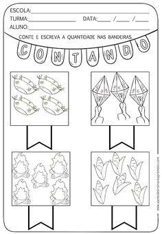 Atividade pronta - Quantidade com temática junina - A Arte de Ensinar e Aprender