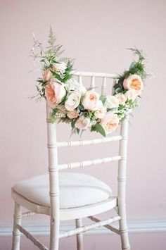 Wedding Flower Decoration Check out these simple chic wedding chair ideas for a spring or summer wedding. - Wedding Stylist, Kirsten Butler aka Little Wedding Helper gives us practical, stylish chair decor inspiration, that won't cost the earth Chic Wedding, Spring Wedding, Elegant Wedding, Floral Wedding, Wedding Flowers, Wedding Blog, Magical Wedding, Luxury Wedding, Wedding Chair Decorations
