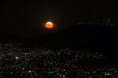 Luna vista desde México d.f.