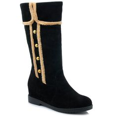 Colour Block Dome Stud Mid-Calf Boots #>=#>=#>=#>=#> Click on the pin to check out discount price, color, size, shipping, etc. Save and like it!