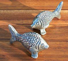 Fish Salt & Pepper Shakers #potterybarn