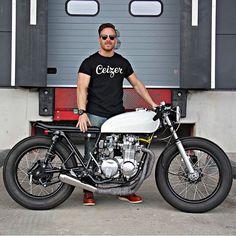 Simple, lean lines. Killer little 1976 Honda CB550 cafe racer by Ironwood Custom…