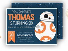 Star Wars BB-8 Birthday Invitation