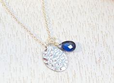 Fine Silver Disc Necklace