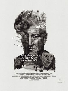 "Movie Director Portrait Print, David Lynch by Stellavie & Julian Rentzsch   (get 20% off with code ""Celebrate-20"")"