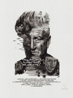 """Movie Director Portrait Print, David Lynch by Stellavie & Julian Rentzsch   (get 20% off with code """"Celebrate-20"""")"""