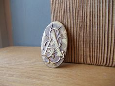 Letter A Brooch / Personalized Brooch / Soviet Pin / by EUvintage