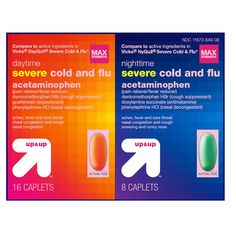 Day/Night Severe Cold & Flu Caplets 24ct - up & up