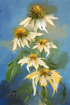 Cone Flowers-Corel Painter 2016